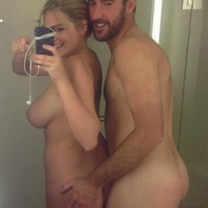 Totally naked hacked pic of Kate Upton and her boyfriend Justin
