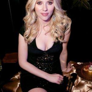 Scarlett Johansson breasts in black dress