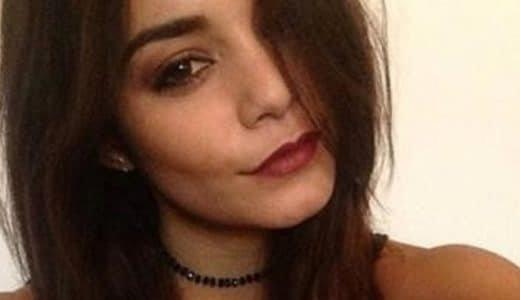 Vanessa Hudgens selfie with red lips