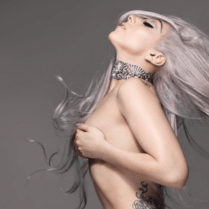 topless pic of lady gaga showing her side tat