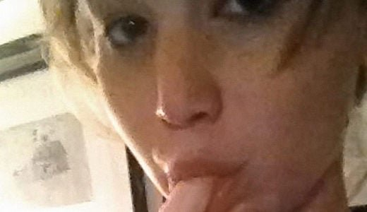 Jennifer Lawrence sucking on finger