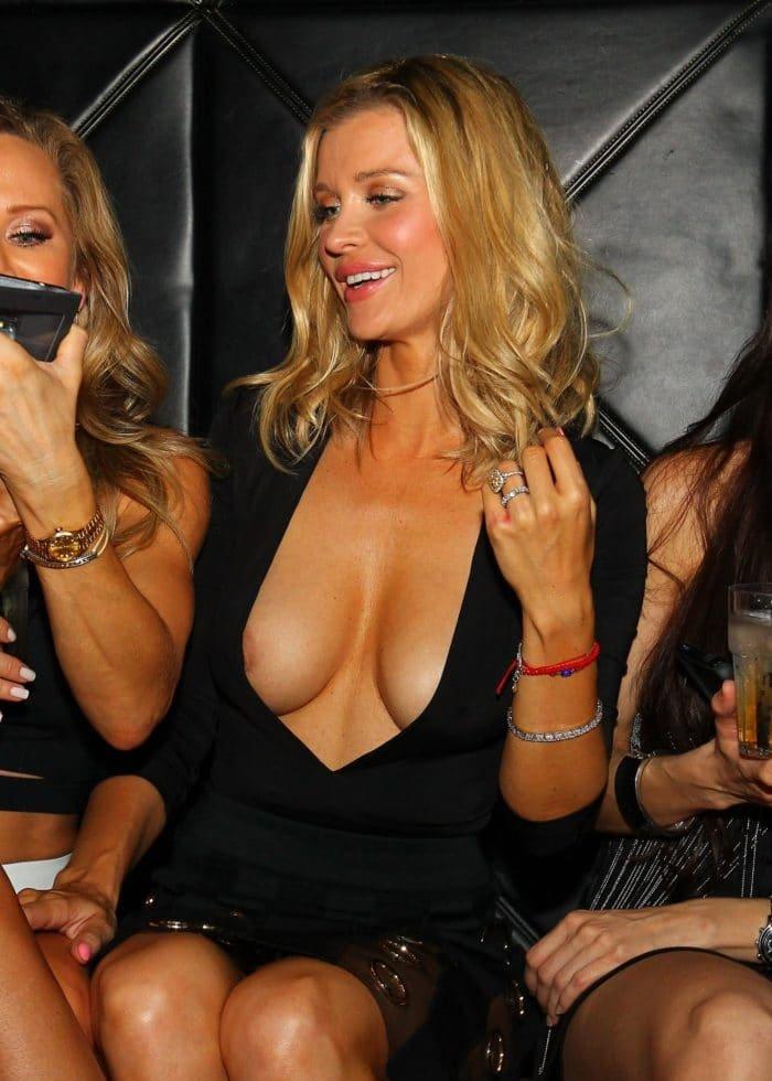 Joanna Krupa nipple slip in Miami while at club