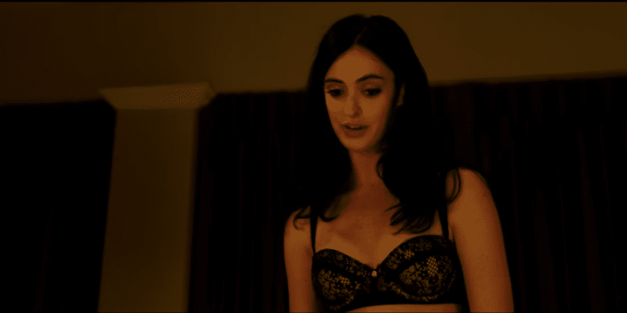Krysten Ritter black bra looking hot