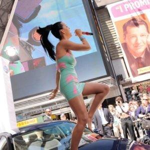 Volkswagen 2011 Compact Sedan World Premiere Katy Perry dancing on car