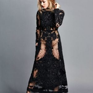 madame fiagro december 2015 edition amanda seyfried poses in black see through dress