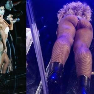Lady Gaga ass from below