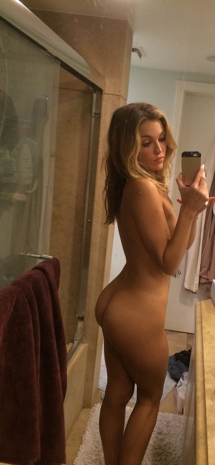 Lili Simmons completely bare in bathroom