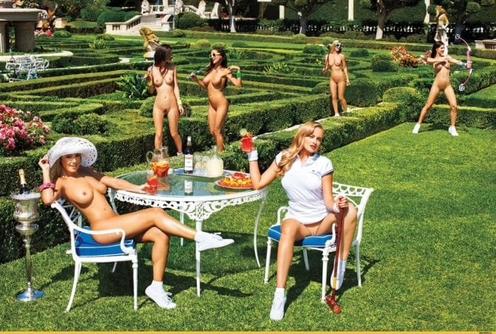 Playmates in the garden
