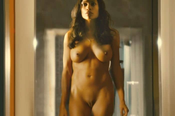 Rosario dawson completely naked in movie Trance showing her tits and pussy