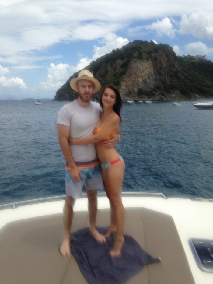 leaked pic of Em Rata with boyfriend on boat