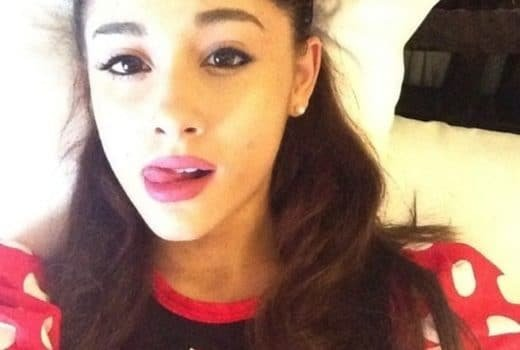 Ariana Grande tongue out selfie