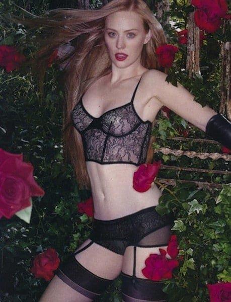 Deborah Ann Wolf in see through lingerie