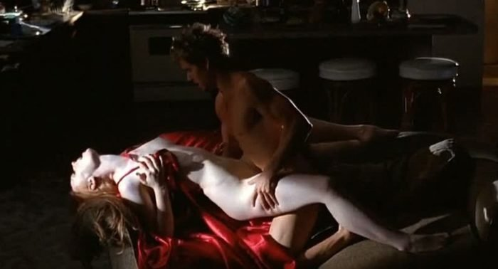Deborah Ann Woll on true blood naked with a red cape