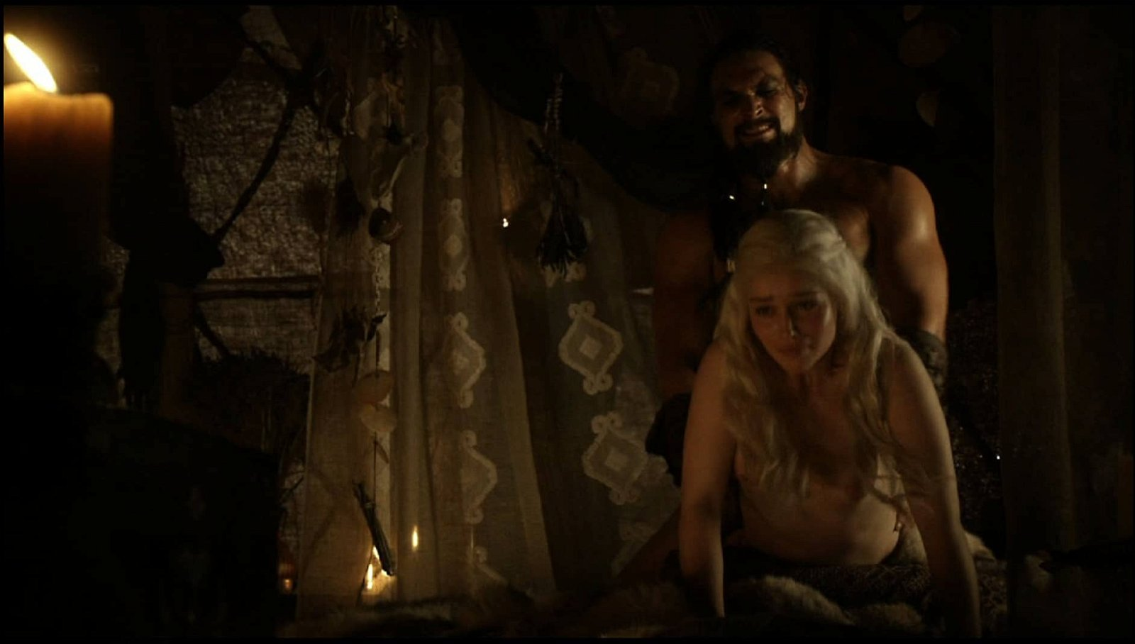 Emilia Clarke getting it from behind topless
