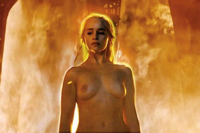 Khaleesi mother of dragons boobs exposed in game of thrones season 6