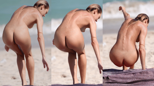 Candice Swanepoel naked body on the beach