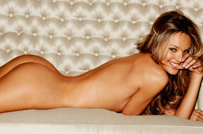Candice's hot uncovered butt exposed while laying down