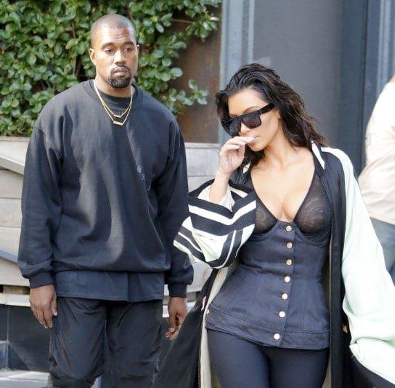 Kim Kardashian Nipples Exposed In See Through Top NYC (9)