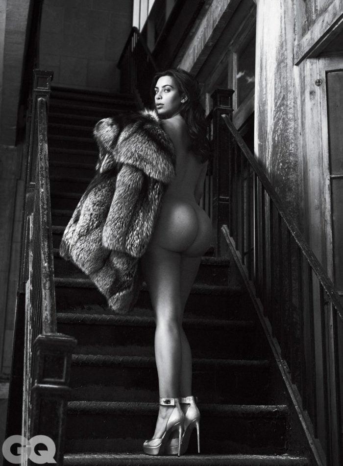 Kim Kardashian's naked butt for GQ
