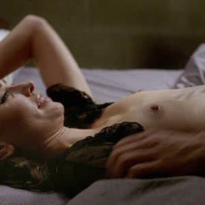 Melissa Benoist topless in bed