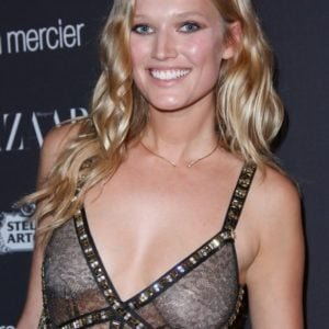Toni Garrn see through dress at event (3)